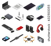 technology devices color icons... | Shutterstock .eps vector #632503355
