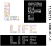 life. word collage.