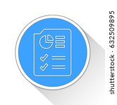 data seo document button icon... | Shutterstock . vector #632509895