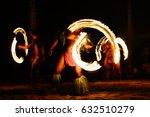 fire dancers at hawaii luau...   Shutterstock . vector #632510279