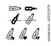 Message Bottle Icon Set
