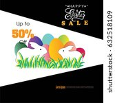 easter sale poster background... | Shutterstock .eps vector #632518109