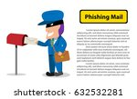 hacker send a phishing mail to... | Shutterstock .eps vector #632532281