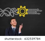 service concepts on chalkboard... | Shutterstock . vector #632539784