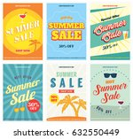 summer sale posters or flyers... | Shutterstock .eps vector #632550449