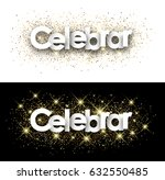celebrate paper banner with... | Shutterstock .eps vector #632550485