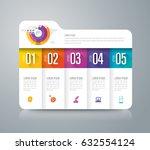 folder infographics design... | Shutterstock .eps vector #632554124