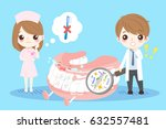 cute cartoon dentist dont use... | Shutterstock .eps vector #632557481