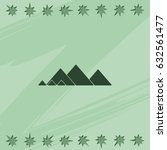 giza pyramids icon.   Shutterstock .eps vector #632561477