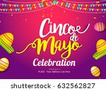 poster or banner of cinco de... | Shutterstock .eps vector #632562827