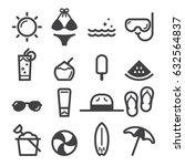 summer icons | Shutterstock .eps vector #632564837