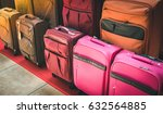 luggage consisting of large... | Shutterstock . vector #632564885