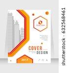 annual report  cover design... | Shutterstock .eps vector #632568461