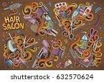 vector hand drawn doodle... | Shutterstock .eps vector #632570624