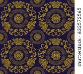 antique seamless background... | Shutterstock .eps vector #632572565