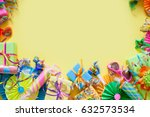 gifts  garland  festive decor... | Shutterstock . vector #632573534