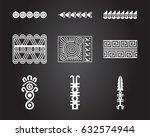 american indian ethnic symbols | Shutterstock .eps vector #632574944