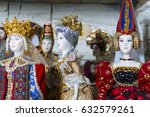 russian folk costumes  doll ... | Shutterstock . vector #632579261