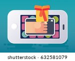 in game ad or in game purchase. ... | Shutterstock .eps vector #632581079