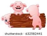 vector illustration of three... | Shutterstock .eps vector #632582441