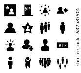 member icons set. set of 16... | Shutterstock .eps vector #632589905