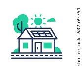 Eco House   Modern Vector...