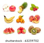 fruit collage | Shutterstock . vector #63259702
