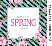spring best offer card with...   Shutterstock .eps vector #632599931