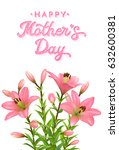 floral greeting card for... | Shutterstock . vector #632600381