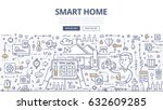 doodle vector illustration of... | Shutterstock .eps vector #632609285