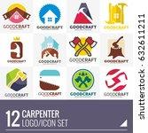 carpenter home builder logo... | Shutterstock .eps vector #632611211