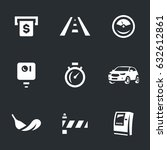 vector set of toll road icons. | Shutterstock .eps vector #632612861