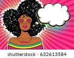 wow pop art face. sexy woman... | Shutterstock .eps vector #632613584