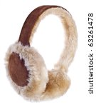 Fuzzy Winter Ear Muffs Isolated ...