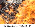 fire and flames close up | Shutterstock . vector #632617199