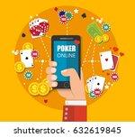 online mobile casino background.... | Shutterstock .eps vector #632619845