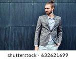 portrait of sexy handsome... | Shutterstock . vector #632621699