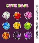 cute colorful round ladybugs...