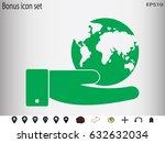 globe  icon  vector...   Shutterstock .eps vector #632632034