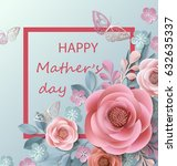 postcard for mother's day  with ... | Shutterstock .eps vector #632635337