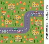 plan of village. landscape with ... | Shutterstock . vector #632637449