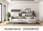 white and gray modern... | Shutterstock . vector #632638325
