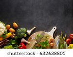 cooking organic food concept... | Shutterstock . vector #632638805