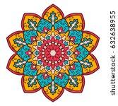 mandala. ethnic decorative... | Shutterstock .eps vector #632638955