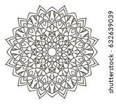 mandala. ethnic decorative... | Shutterstock .eps vector #632639039
