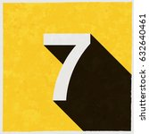 Number Seven  7 On Retro Poster ...