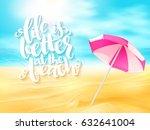 vector summer travel banner... | Shutterstock .eps vector #632641004