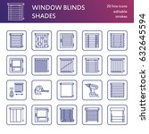 window blinds  shades line... | Shutterstock .eps vector #632645594