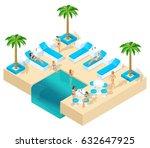 isometry of the girl on... | Shutterstock .eps vector #632647925