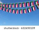 sudan flag festive bunting... | Shutterstock . vector #632650109
